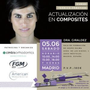 Curso actualización de composites dra.Giráldez Madrid